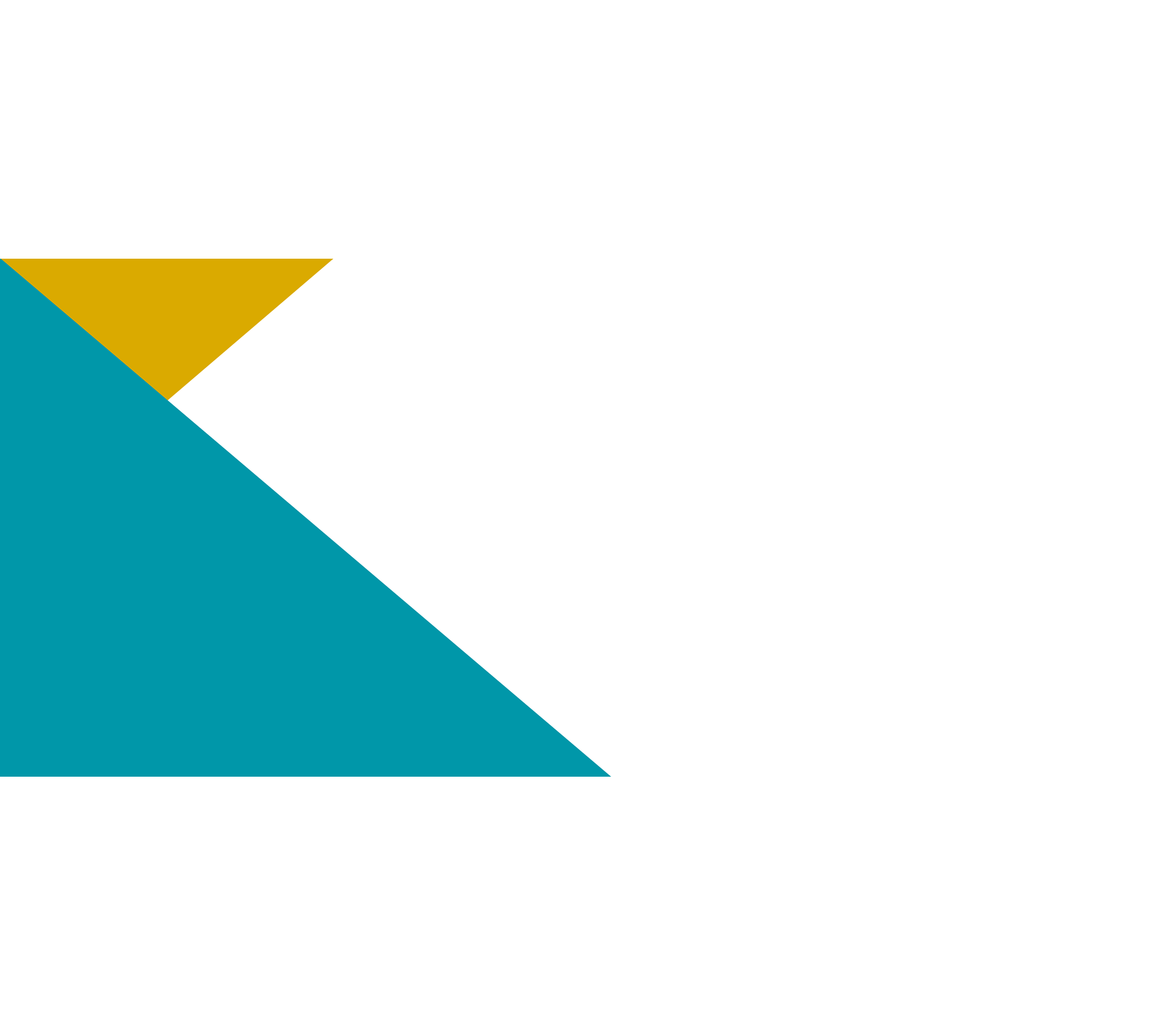 Teal and gold triangle pattern